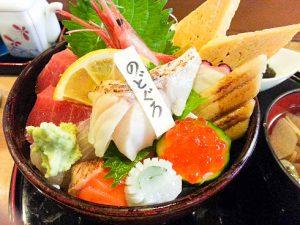 ノドグロ入り海鮮丼